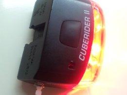 USB rechargeable bike light.