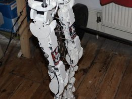 Inexpensive 3D Printed Full Size Humanoid Robot