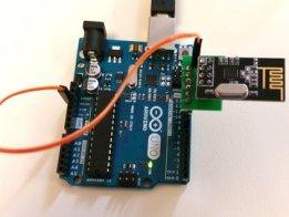 Arduino UNO to nRF24L01+ Header