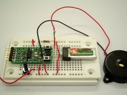 Integrating RF LED Detector with ATtiny13