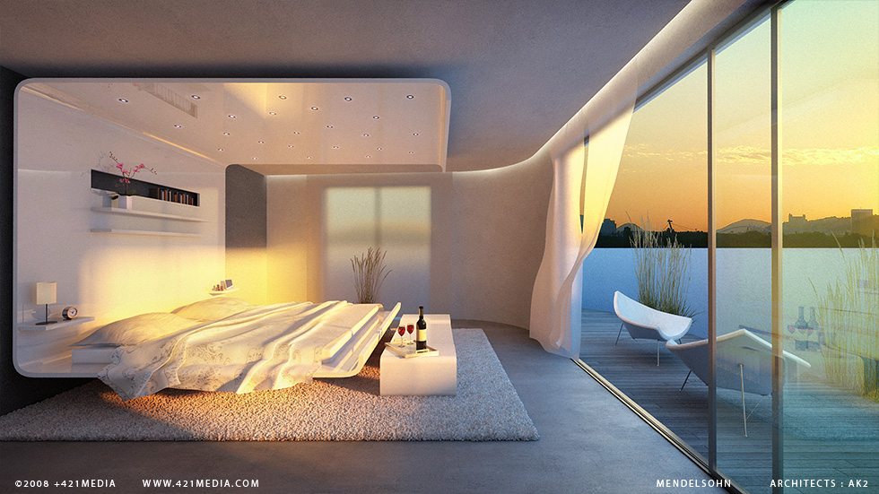 Interior Design Ideas Surreal Bedroom With Great View