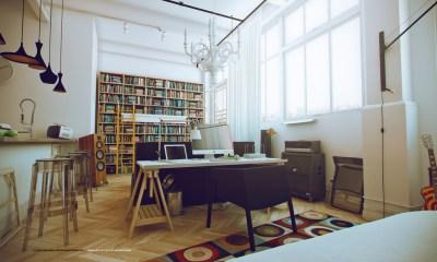 White Studio Apartments