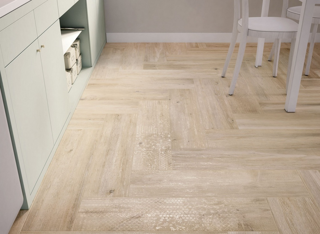 wood look tiles cheap kitchen flooring