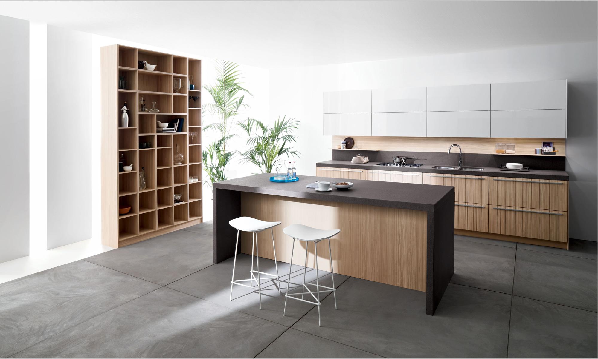 modern italian kitchens from snaidero concrete kitchen floor