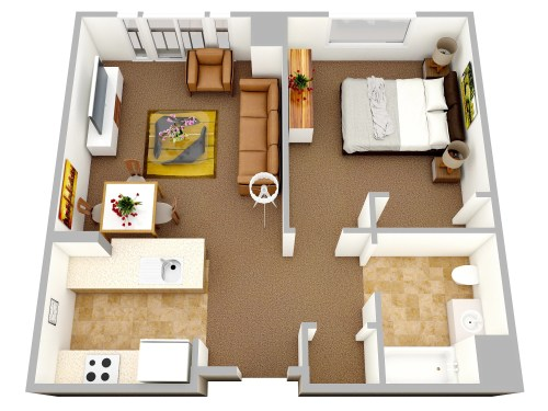 Medium Of Small Apartment Design Floor Plan