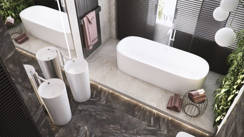 marble-top-to-toe-bathroom-living-wall-two-porcelain-cylindrical-taps