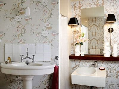 How to add elegance to a bathroom with wallpapers