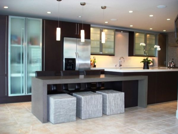Modern Kitchen Island Design In Gallery Homedit Inside Ideas