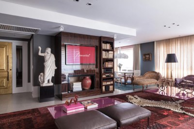 An apartment in Brazil defined by luxury and eclecticism