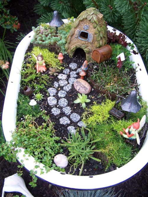 Medium Of Fairy Garden Planter Box