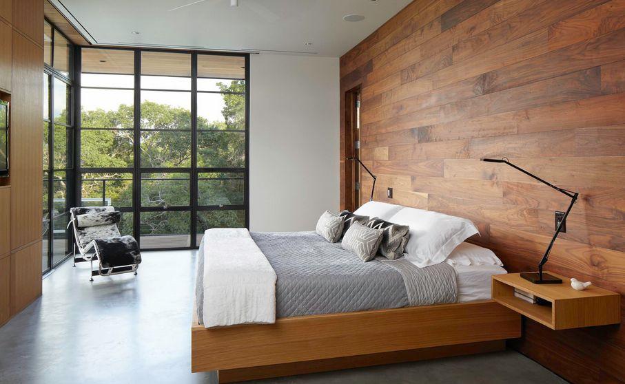 Woodenwallminimalistbedroom  Homedit