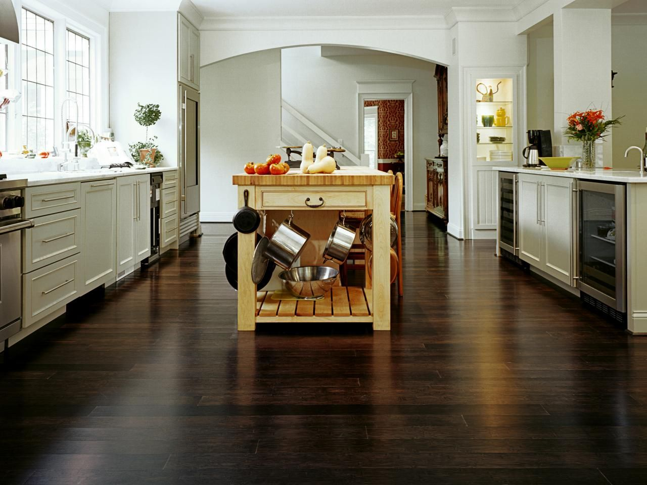 best options for kitchen flooring kitchen floors Kitchen bamboo flooring option