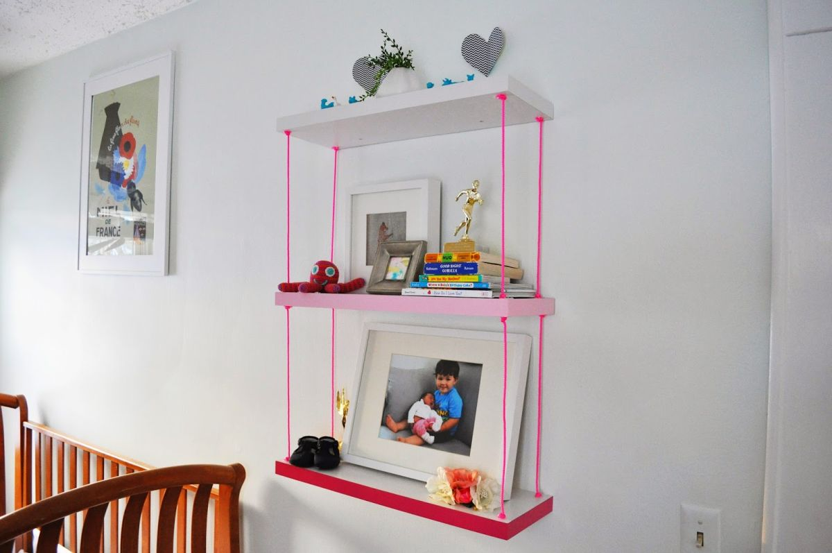 Mutable Your Dcor Hanging Wall Shelves Hanging Wall Shelves Colorful Cords That Hang Shelves On Wall Ways To Make Diy Shelves A Part interior Hanging Shelves Wall