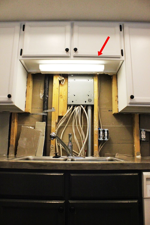 diy kitchen lighting upgrade led kitchen light Kitchen Light Upgrade Above the sink light