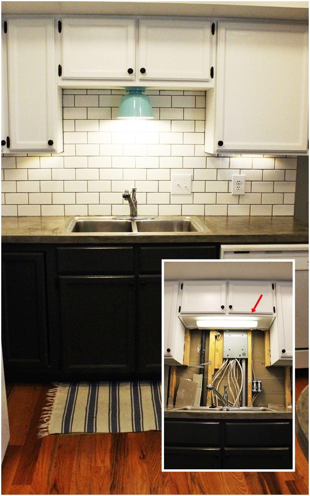 diy kitchen lighting upgrade kitchen cabinet lights DIY Kitchen Lighting Upgrade LED Under Cabinet Lights Above the Sink Light