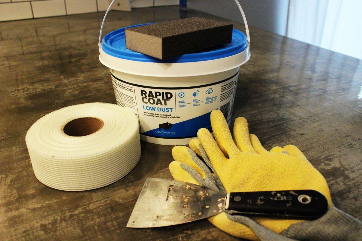 install or repair drywall backsplash kitchen Materials to repair a drywall for kitchen backsplash