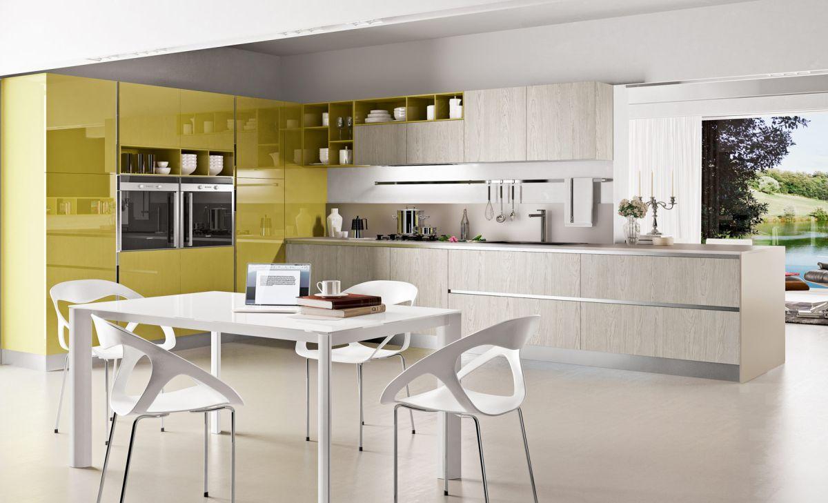 kitchen color schemes kitchen cabinets color combination Chartreuse White Kitchen color Scheme