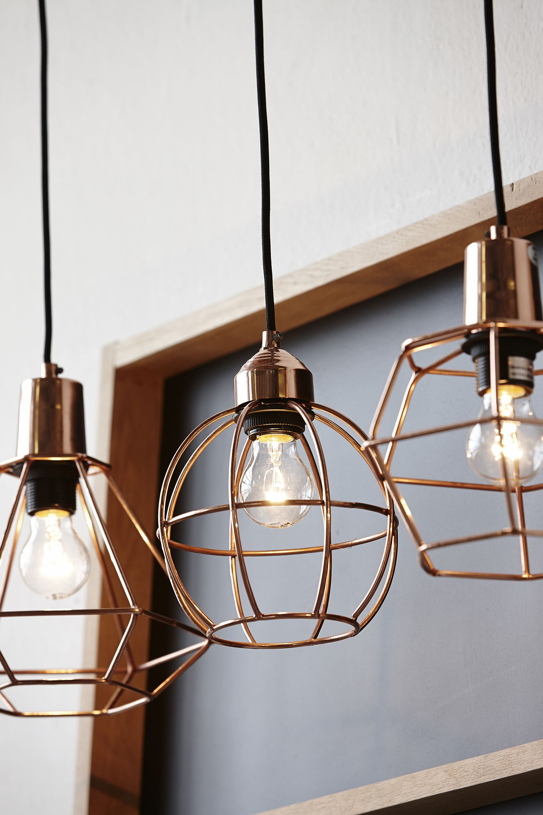 trendy copper pendant light copper pendant light kitchen Hanging copper cage lights