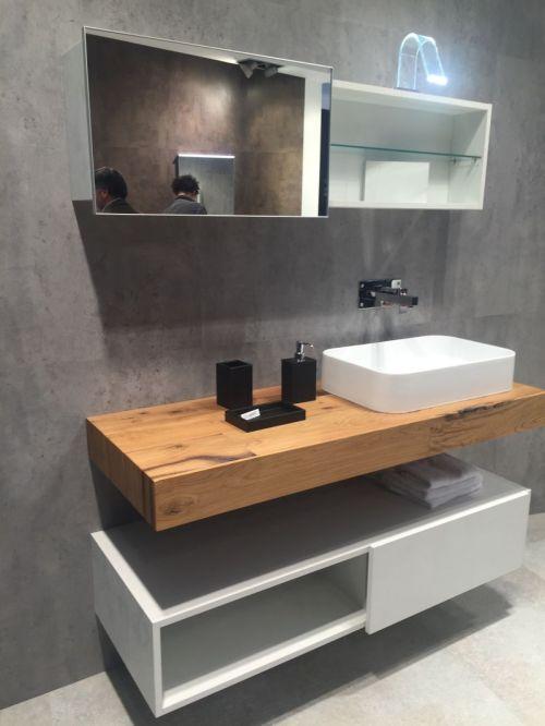 Medium Of Wooden Shelf For Bathroom