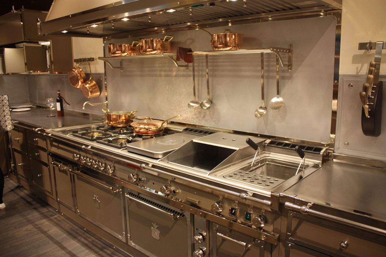 stainless steel countertops stainless steel kitchen countertops View in gallery Ultra luxe kitchens from Gullo feature stainless steel