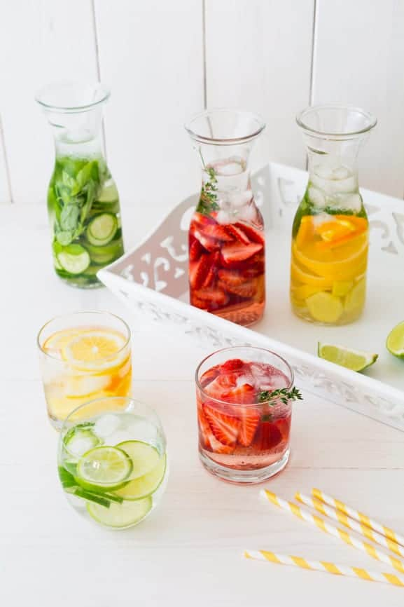 infused water fruit and herbs