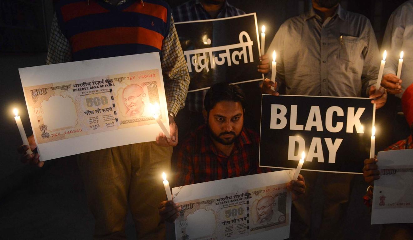 Indians demonstrate against Prime Minister Narendra Modi's demonetisation drive. Photo: AFP