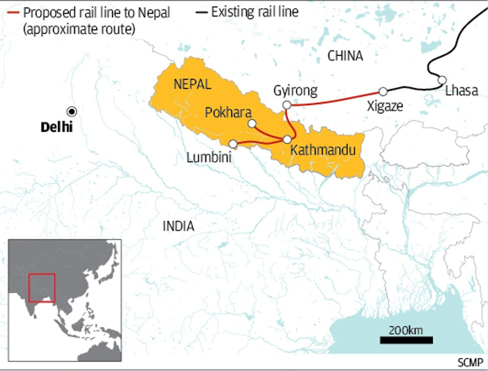 The China-Nepal Railway. Click to enlarge.