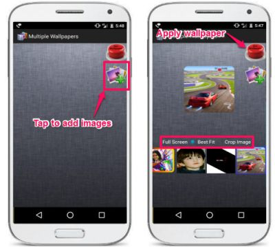 How To Set Different Wallpapers For Each Home Screen In Android
