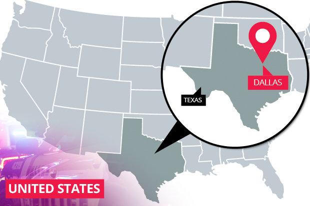 Map of Dallas, Texas