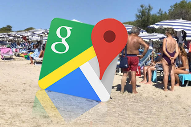 Google Maps users spot beach babe in AWKWARD situation     but it s     Google Maps street view captures woman on the beach
