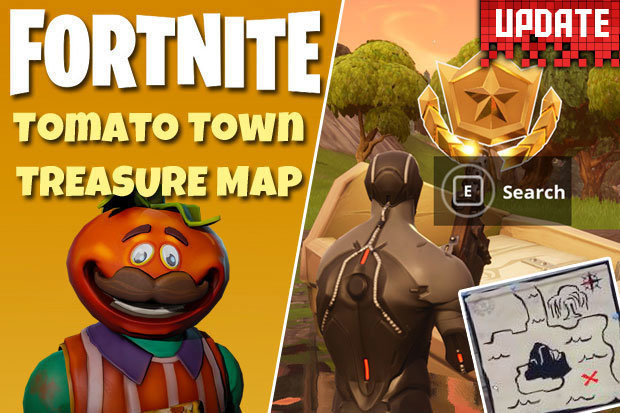 Fortnite Challenges  Week 1 Tomato Town Treasure Map   time running     Tomato Town Treasure Map  Fortnite Season 4 Week 1 Challenge and how to  complete it