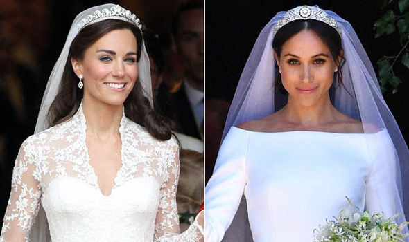 Kate Middleton and Meghan Markle  Royal weddings compared in     Kate Middleton v Meghan Markle wedding pictures