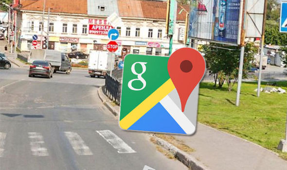 Google Maps Street View  Embarrassed man caught cheating by his     Google Maps Street View Russia