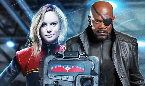Captain Marvel LEAK  Nick Fury star Samuel L Jackson reveals THIS     captain marvel  nick fury and device