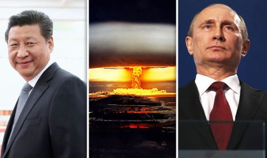 Xi Jinping, Putin and nuclear explosion