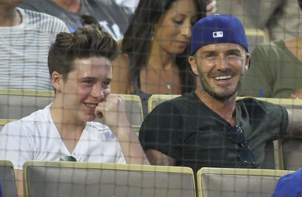 david beckham brooklyn beckham ear piercing 225703 David Beckham hurt in a car crash picking up Brooklyn from an Arsenal v Brighton game [Tweets]