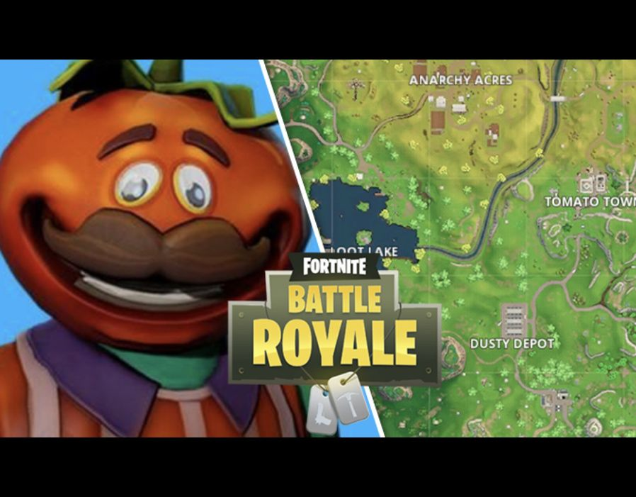 Fortnite Tomato Town Treasure Map   Battle Royale Season 4  week 1     Tomato Town Treasure Map Fortnite Season 4 map location REVEALED