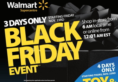 Walmart Black Friday 2018 Canada Deals Flyer Reveals What's on Sale [LIST] | iPhone in Canada Blog