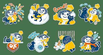 line sticker3273