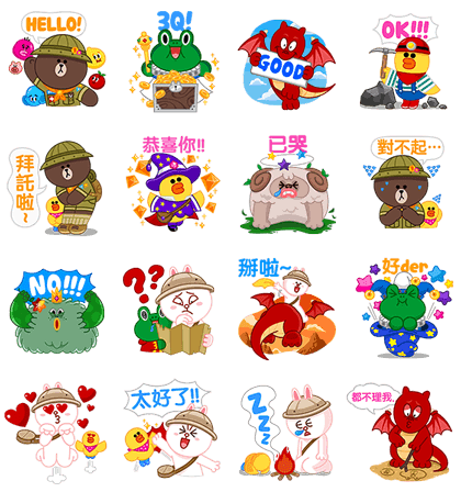 【2015年10月】line国外贴图(跨区到全世界总整理)