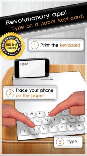 iOS限時免費軟體APP-Paper Keyboard 1
