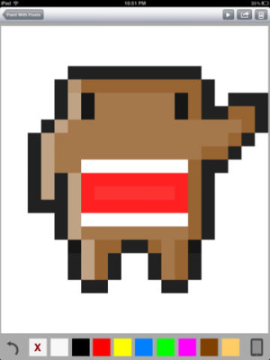 iOS限免、限時免費軟體app遊戲-Paint With Pixels 1