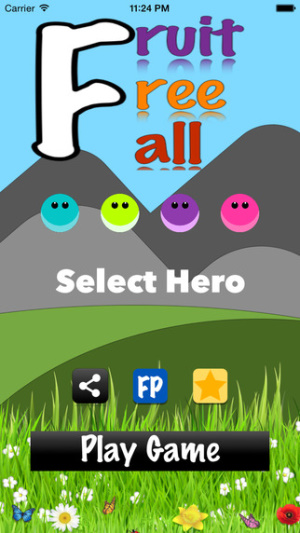 iOS限免、限時免費軟體app遊戲-Fruit Free Fall 1