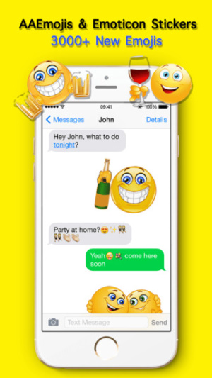 iOS限免、限時免費軟體app遊戲-AA Emojis Extra & Animated Emoji keyboard 1