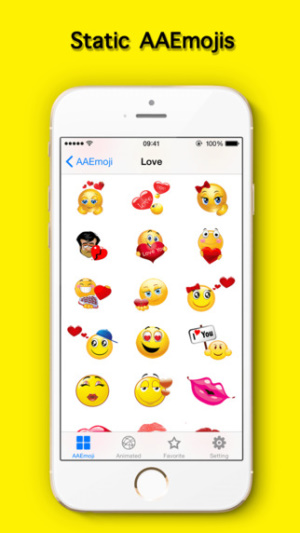 iOS限免、限時免費軟體app遊戲-AA Emojis Extra & Animated Emoji keyboard 2