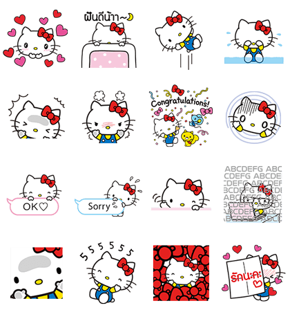 LINE POP UP STICKERS (4)