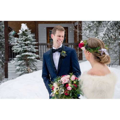 Medium Crop Of First Look Wedding