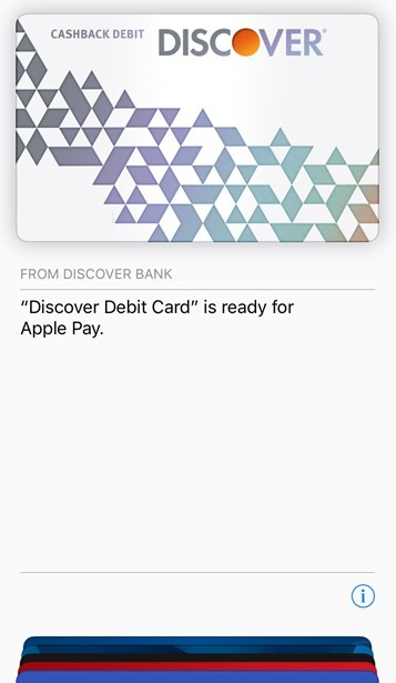 Discover Cashback Debit Cards Now Work With Apple Pay - MacRumors