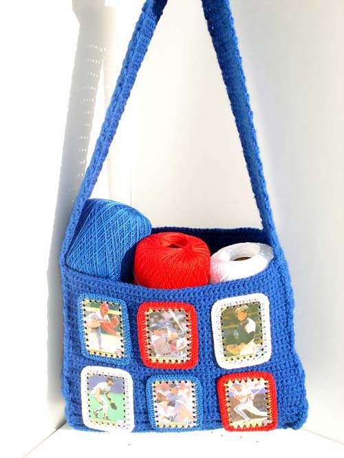 Crochetbaseballbag