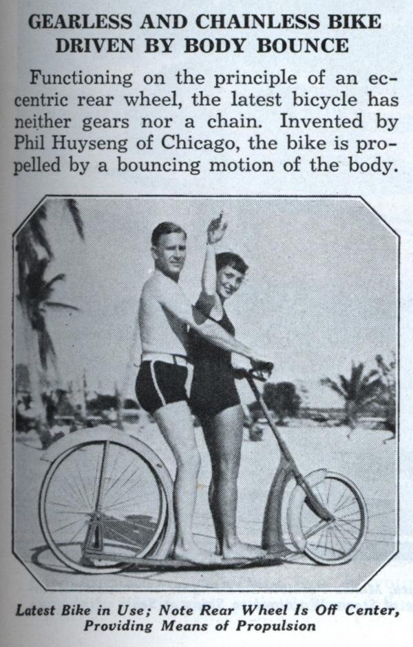 Mags Popularmechanics 6-1935 Gearless Bike